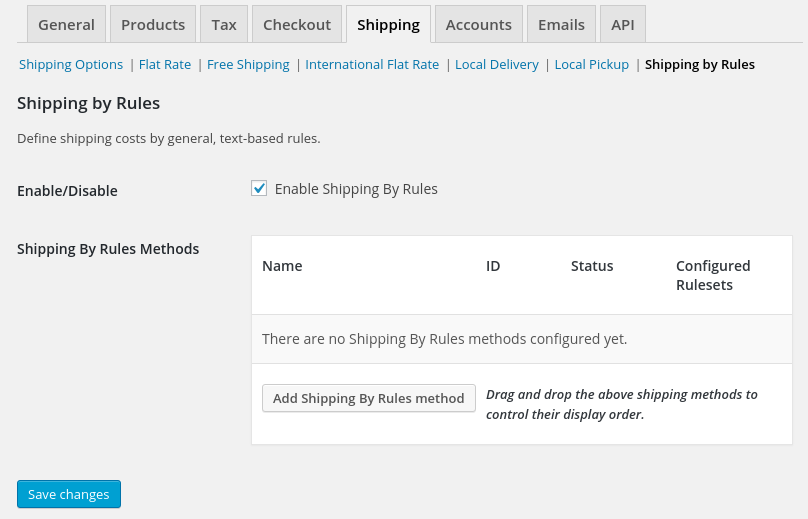 Opentools Woocommerce ShippingRules Config new