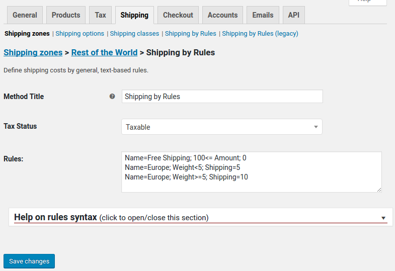 Shipping By Rules for WooCommerce - The Open Tools Company